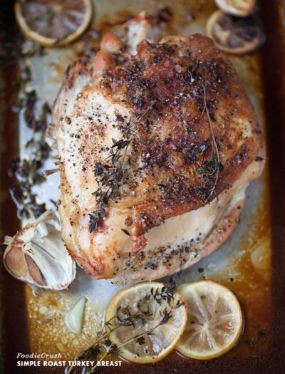 A look down on a a Roasted Turkey Breast
