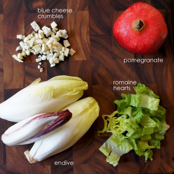 Endive, Blue Cheese, And Pomegranate Salad Recipes — Dishmaps