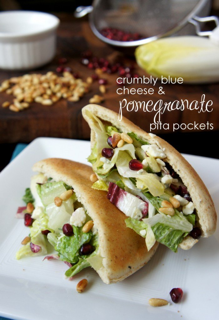 Crumbly Blue Cheese and Pomegranate Pita Pockets - I Wash ...