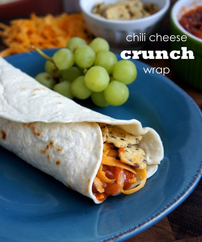 These Chili Cheese Crunch Wraps are a Sonic drive-thru copy cat recipe. Filled with chili, cheese and crunchy corn chips wrapped in a soft flour tortilla