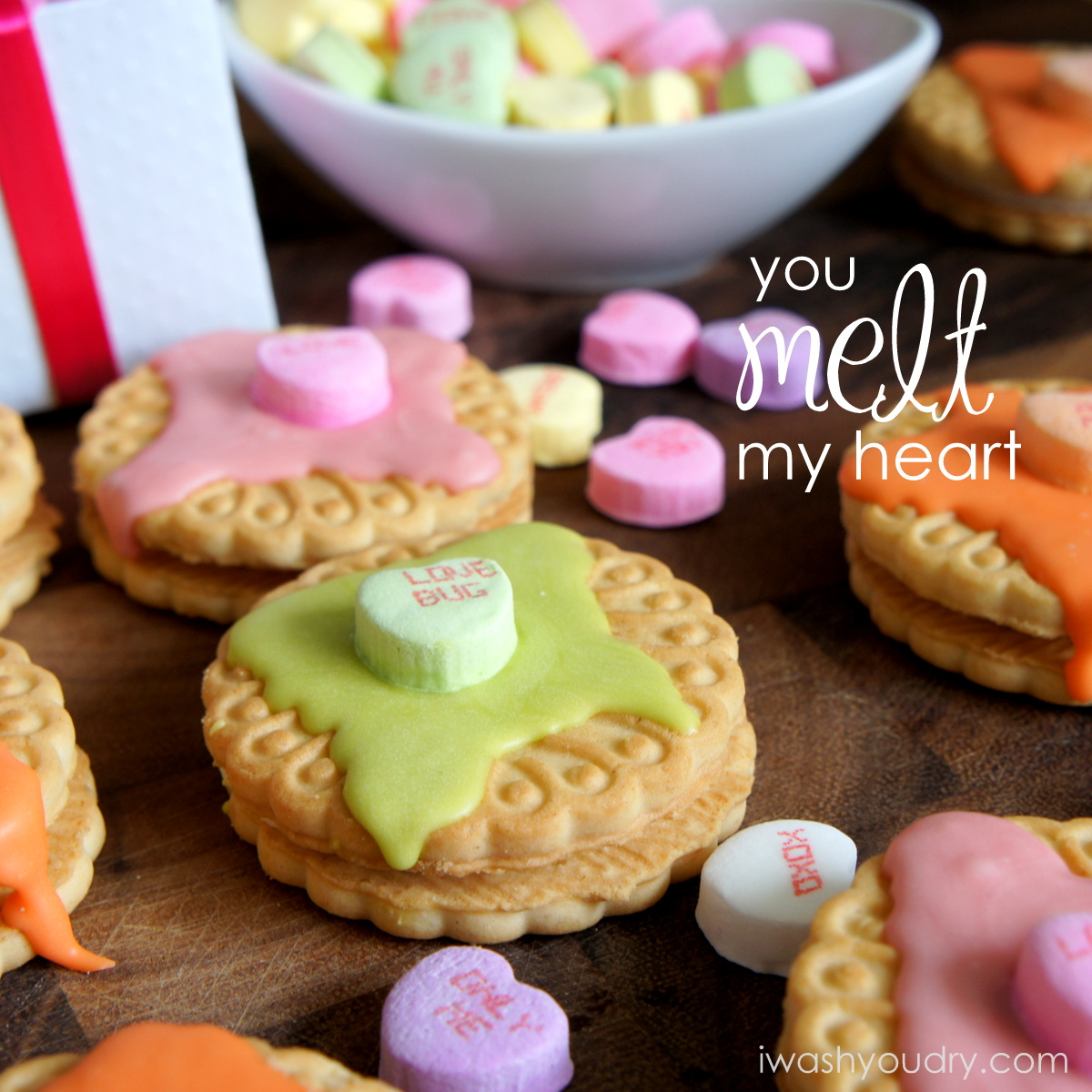 You Melt My Heart Cookie Valentines