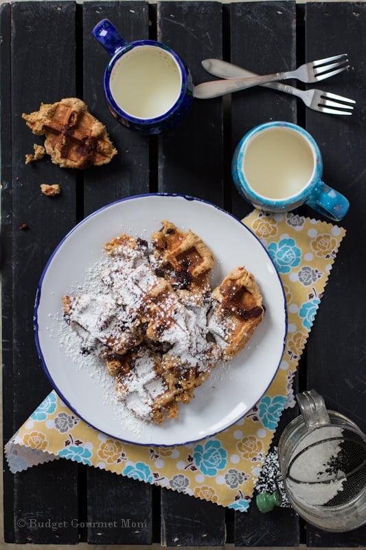 Peanut Butter Banana Waffle Cookies {Budget Gourmet Mom}