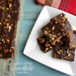 Oats 'n' Toffee Chocolate Squares