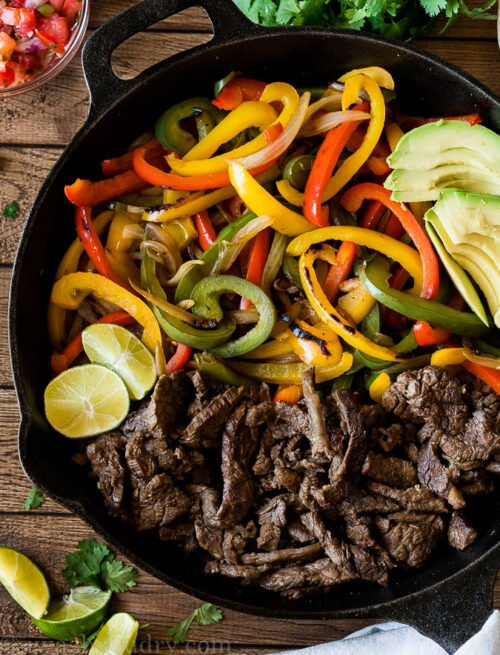 The easiest Steak Fajita Recipe out there! My whole family LOVES this simple recipe!