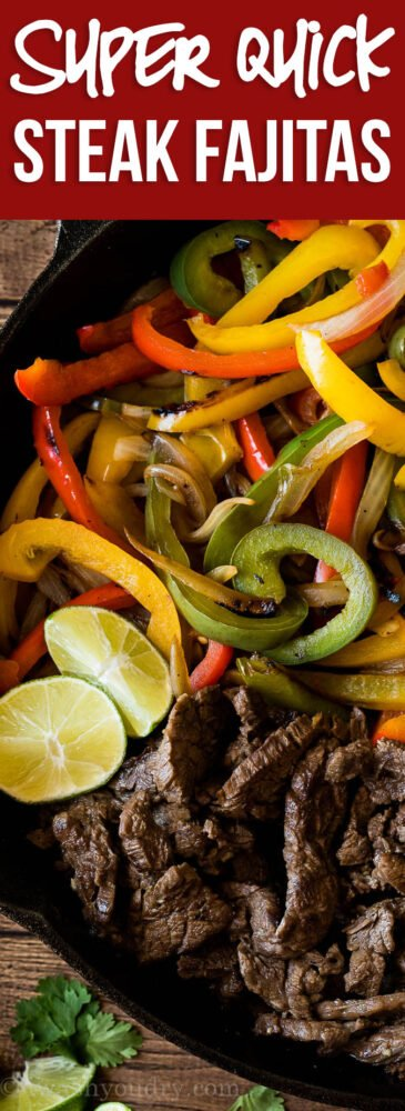 OMG! The easiest Steak Fajita Recipe out there! My whole family LOVES this simple recipe!