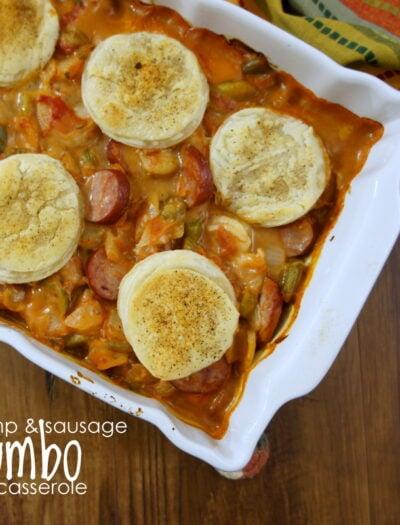Shrimp & Sausage Gumbo Casserole