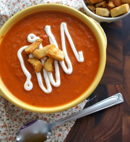 Creamy Sun Dried Tomato and Basil Soup