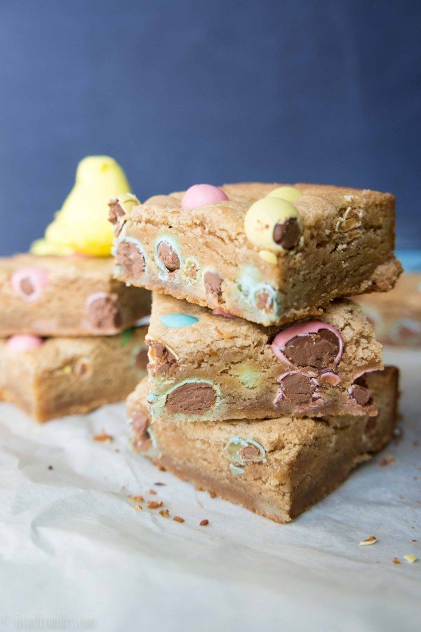 Peanut Butter and Chocolate Egg Blondies