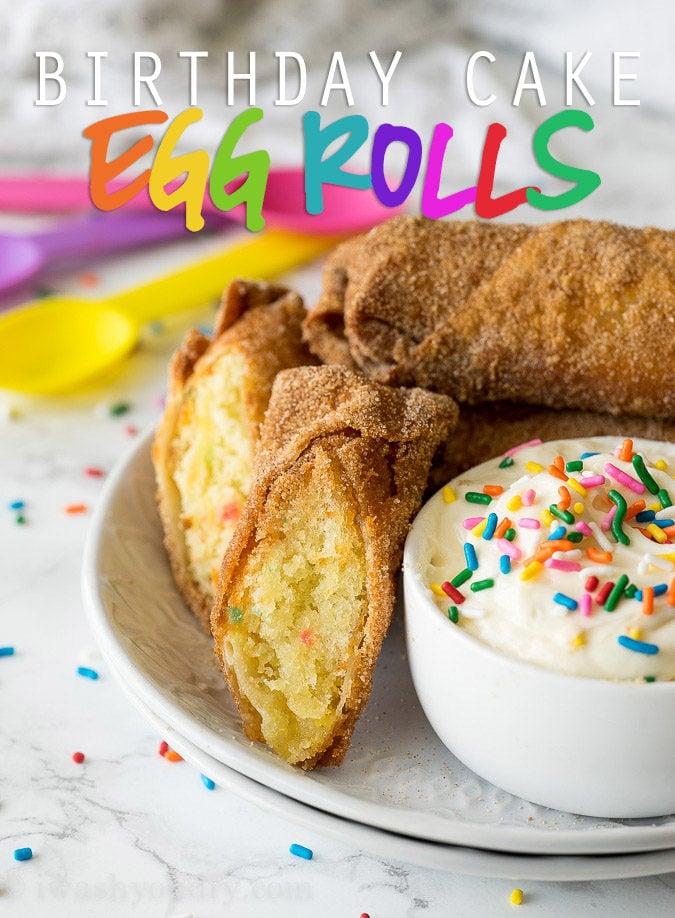 Birthday Cake Egg Rolls