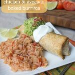 Chicken and Avocado Baked Burritos