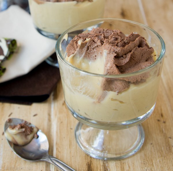 Peanut Butter Pudding with Chocolate Whip Cream