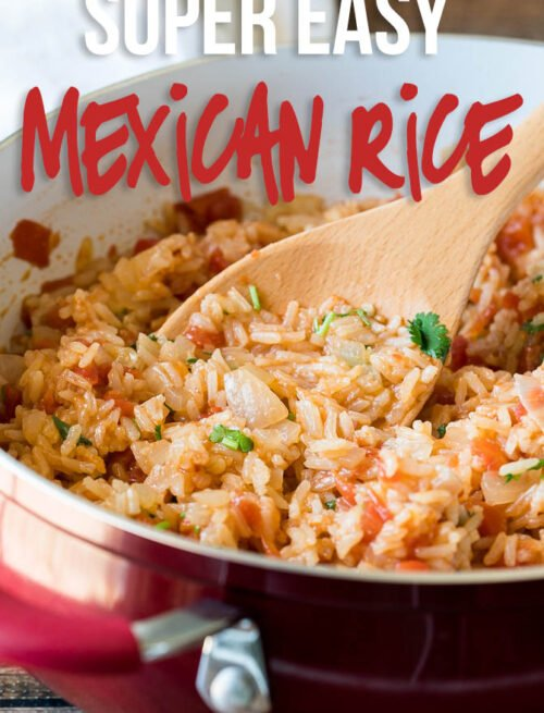 This Easy Mexican Rice Recipe is made in just one skillet in less than 20 minutes for the perfect Mexican side dish!