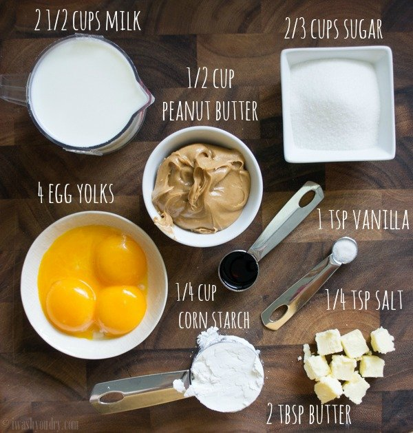 Peanut Butter Pudding Ingredients