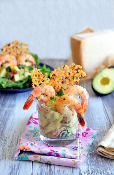 Roasted Shrimp Salad with Thyme and Lemon Frico