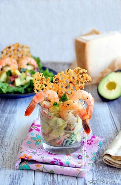 Roasted Shrimp Salad with Thyme and Lemon Frico