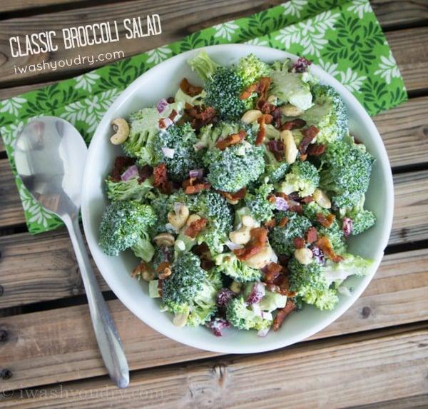 Classic Broccoli Salad Recipe