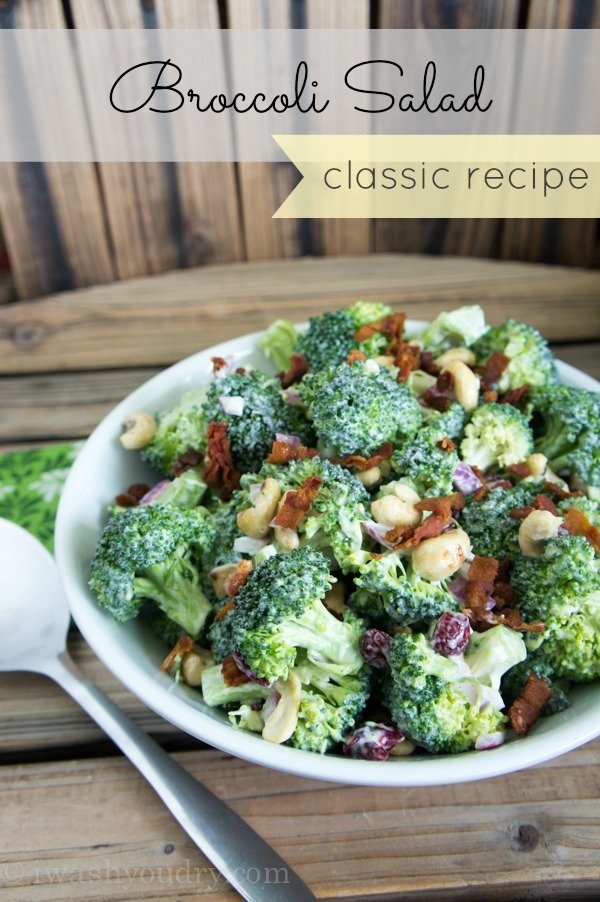 The best Classic Broccoli Salad Recipe out there!