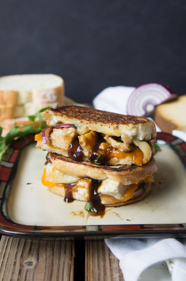 BBQ Chicken Grilled Cheese Sandwich - I Wash... You Dry