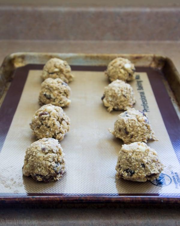 White Chocolate Oatmeal Raisin Cookies