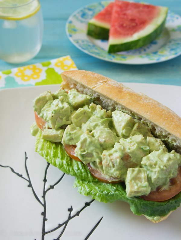 Avocado and Greek Yogurt Chicken Salad Sandwich