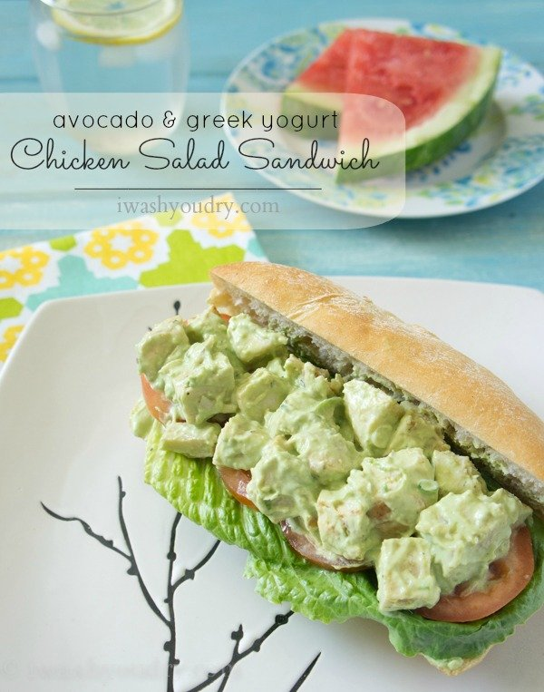 Avocado and Greek Yogurt Chicken Salad Sandwich - I Wash ...