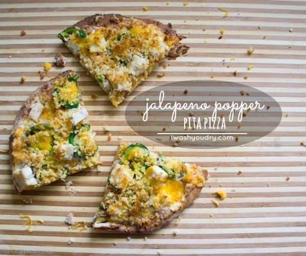 Jalapeño Popper Pita Pizza