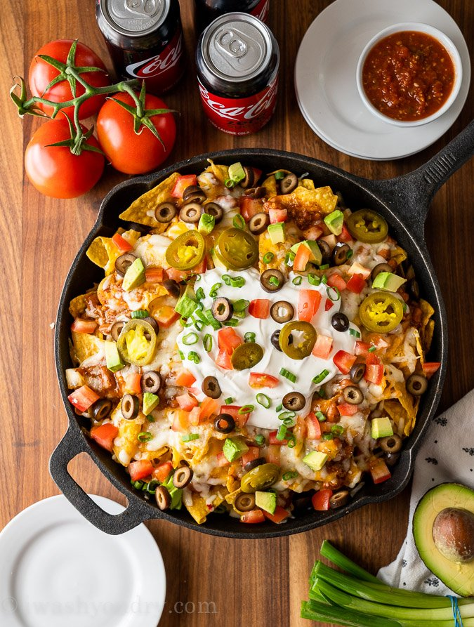 the ultimate plate of macho nachos with all the toppings