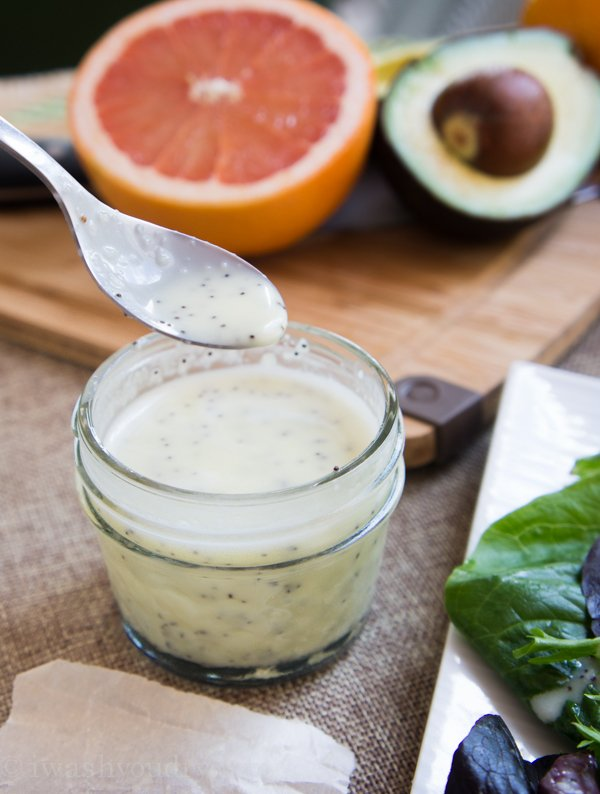 Creamy Lime Poppy Seed Dressing