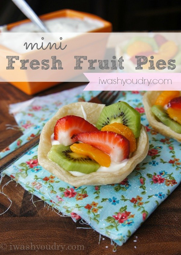 Mini Fresh Fruit Pies