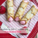 Skinny Strawberry Jell-O Cream Pie Cannolis