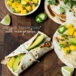 Southwest Chicken Tacos with Mango Salsa and Avocado