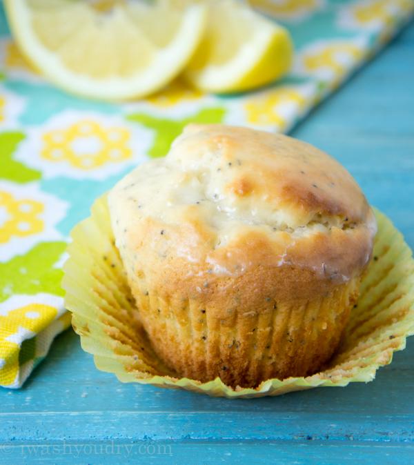 Lemon Poppy Seed Muffins - I Wash... You Dry