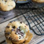 Nutella Stuffed Chocolate Chip Muffins