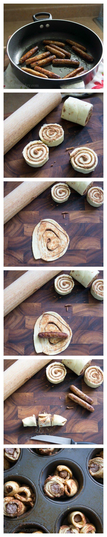Sausage Filled Cinnamon Roll Monkey Bread