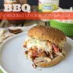 Sweet BBQ Shredded Chicken Sandwiches - Vote for this recipe by @iwashyoudry here: http://on.fb.me/1aR99jW