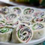 Salami, Olive and Cream Cheese Pinwheels