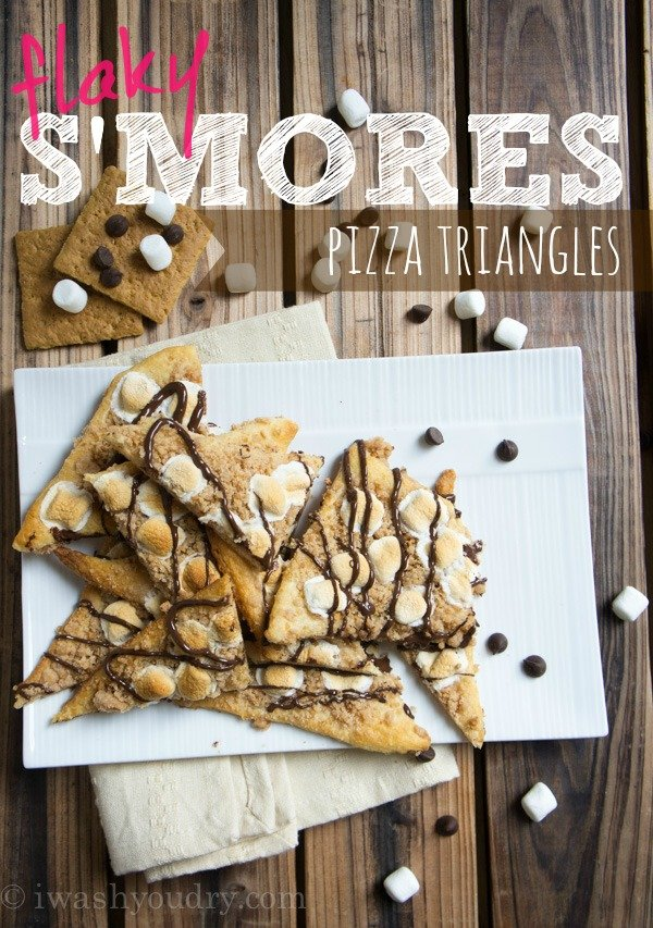 Flaky S'mores Pizza Triangles
