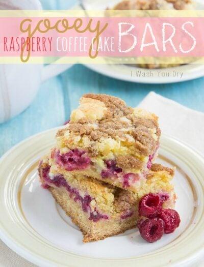 Gooey Raspberry Coffee Cake Bars