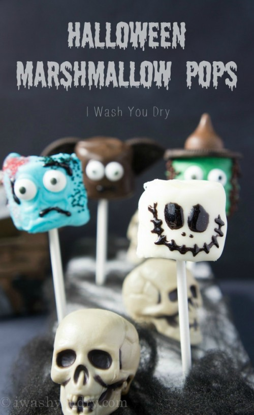 Halloween Marshmallow Pops {full picture tutorials included!}