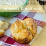 Easy & Cheesy! These Monkey Bread Rolls are just 5 ingredients and make the BEST rolls!