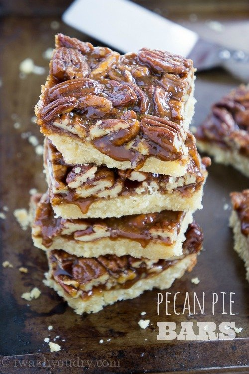Pecan Pie Bars - I Wash... You Dry