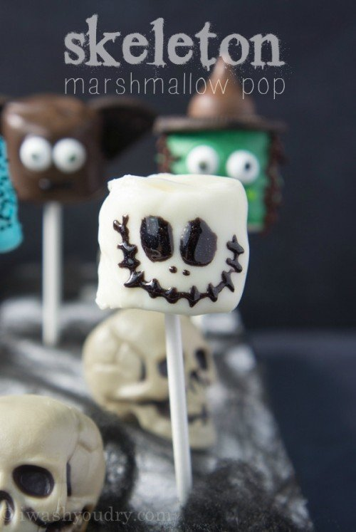 Skeleton Marshmallow Pop!