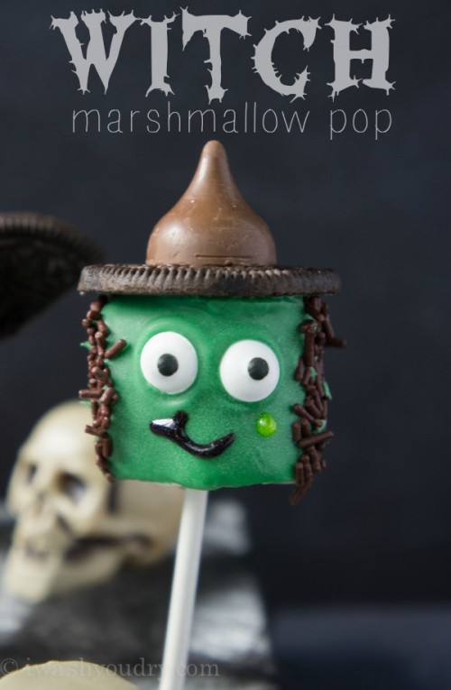 Witch Marshmallow Pop! {Full picture tutorial included!}