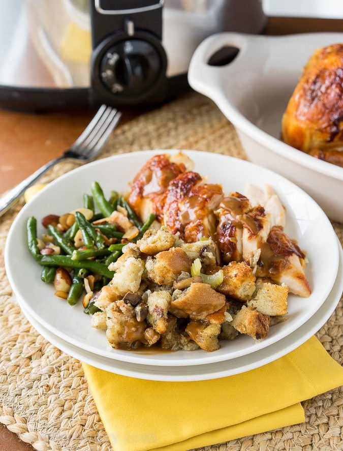 This Crock Pot Sausage Stuffing is always a favorite for Thanksgiving and Christmas! I love that it saves room in the oven for the turkey!