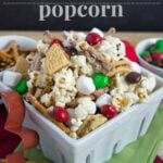 White Chocolate Gingerbread Popcorn