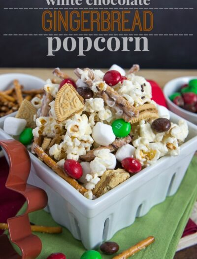 White Chocolate Gingerbread Popcorn
