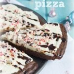 Peppermint Brownie Pizza