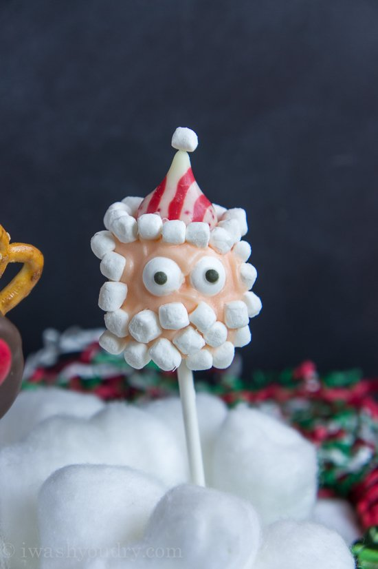 Santa Claus Marshmallow Pop