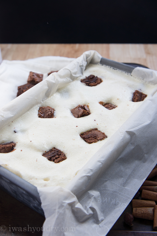 Eggnog Brownie Chunk Ice Cream