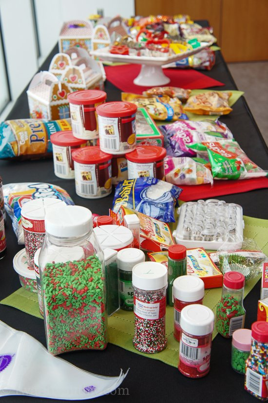 A shot of many ingredients used for Christmas baking